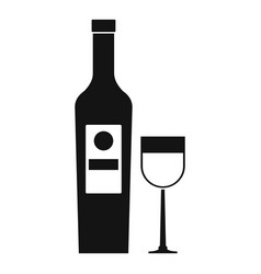 wine icon simple style vector image vector image