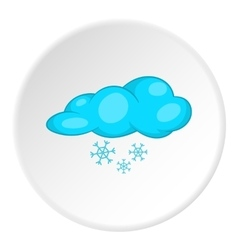 Clouds and snow icon cartoon style vector