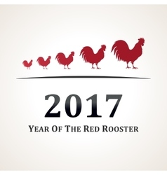 Red rooster symbol of 2017 the emblem the vector