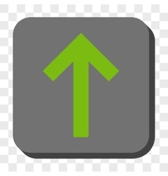 Up arrow rounded square button vector