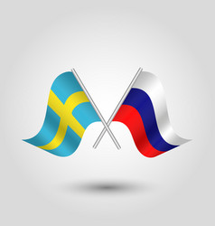 Icon of sweden and russia vector