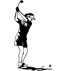 Dr00073 golf woman03 vector