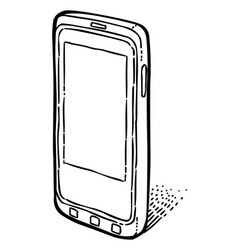 Cartoon image of smartphone icon cellphone vector