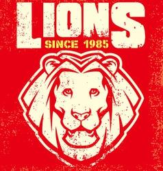Vintage lion mascot vector