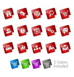 Website Internet Stickers vector image