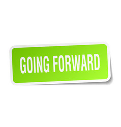 Going forward square sticker on white vector