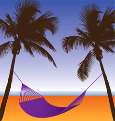Palm hammock vector