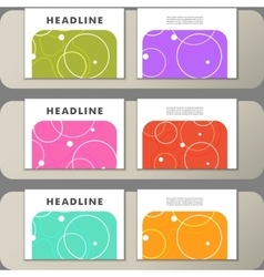 Set of covers with abstract circles and patterns vector