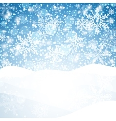 Winter background with snow christmas snow banner vector