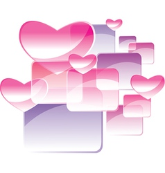 Square and heart vector