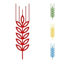 Wheat  set of line icons vector