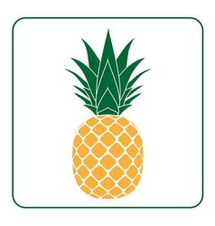 Pineapple with leaf icon yellow vector image