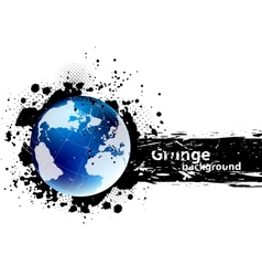 Grunge banner with earth vector