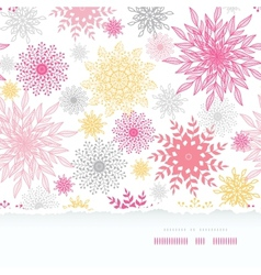 Abstract floral vignettes torn frame seamless vector image