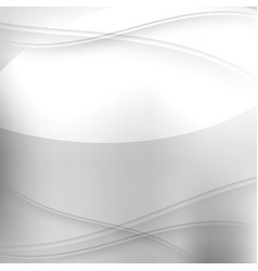 abstract silver background with waves vector image
