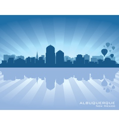 Albuquerque New Mexico skyline vector image