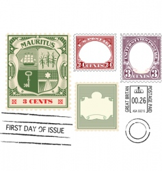 antique postage vector image vector image