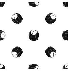 Bakery pattern seamless black vector