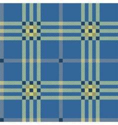 classic blue tartan vector image vector image