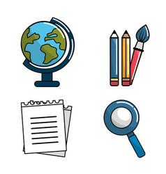 color school tools icon vector image vector image