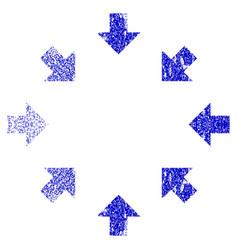 Compact arrows grunge textured icon vector