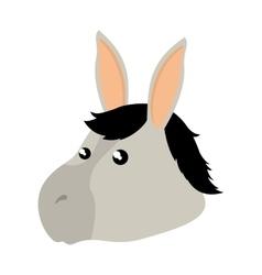 Cute mule manger character vector