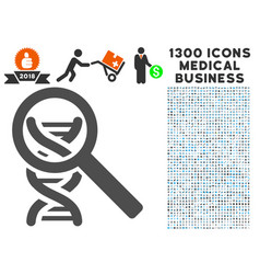Dna analysis icon with 1300 medical business icons vector