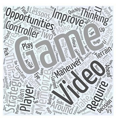 Educational opportunities in video games word vector