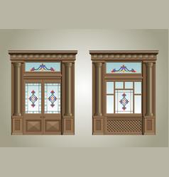 entrance portal vector image vector image