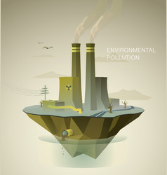 enviromental polution vector image vector image