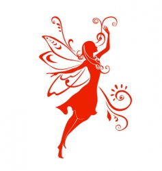 fairy silhouette vector image vector image