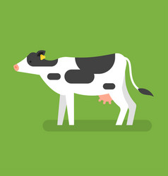 Flat style of cow vector