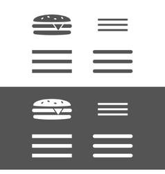 Hamburger menu UI icon vector image vector image