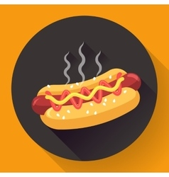 Hot-dog flat design style vector