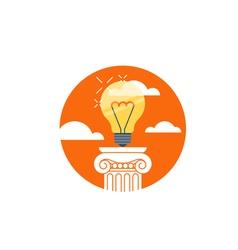 Idea light bulb creativity award concept vector