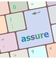 Keyboard with enter button assure word on it vector