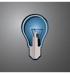 Lightbulb cut paper vector