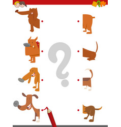 Match the halves of dogs vector