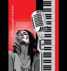 microphone brochure vector image