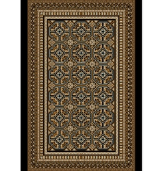 Old oriental rug with beige and brown shades vector