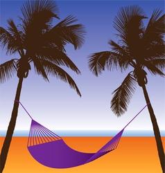 Palm hammock vector