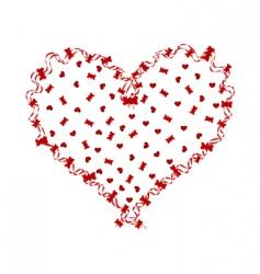 ribbon heart vector image vector image