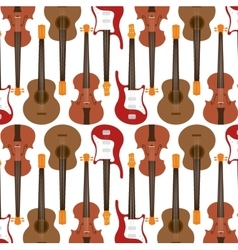 Seamless pattern guitar electric traditional vector