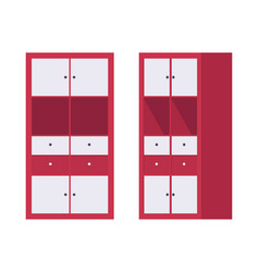 storage cabinet office in red vector image vector image