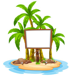 White board on island vector
