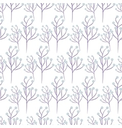 Wild flower spring field seamless pattern vector image