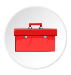 Red case plumber icon cartoon style vector image