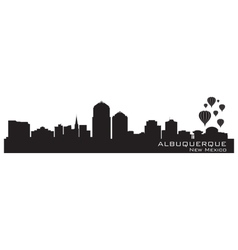 Albuquerque new mexico skyline detailed silhouette vector