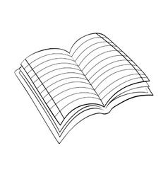 Book scribble draw vector
