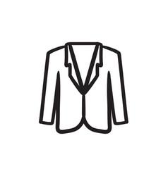Male jacket sketch icon vector